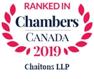 Chaitons LLP Ranked in Chambers Canada 2019