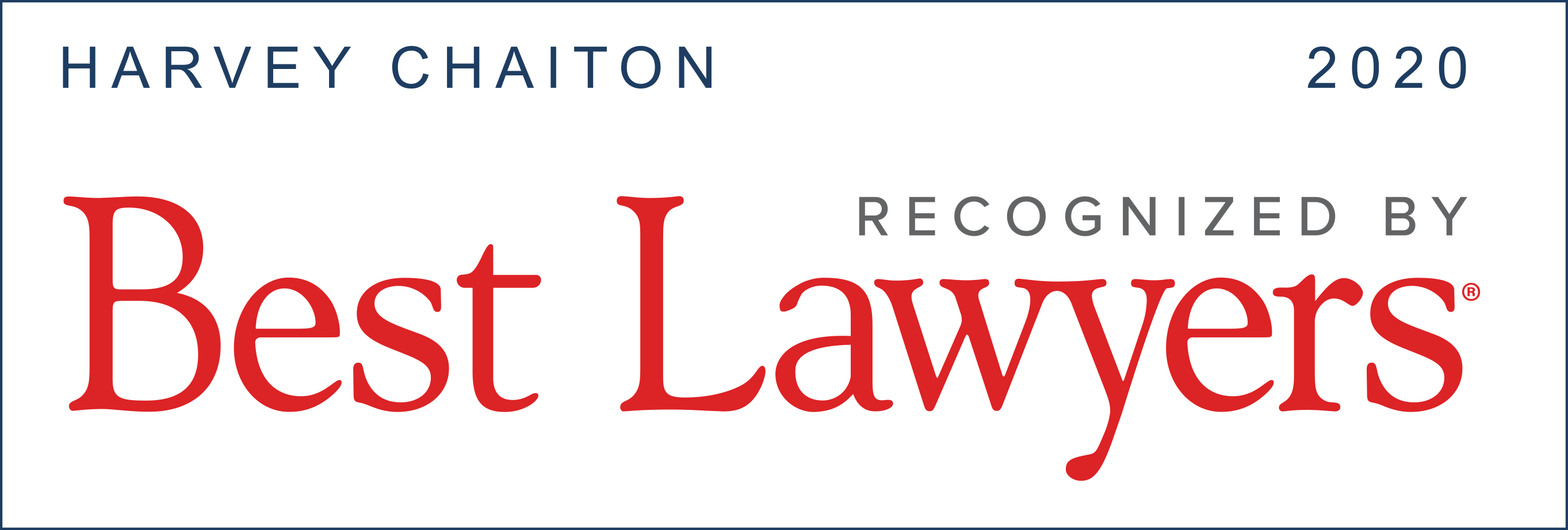 Best Lawyers | Harvey Chaiton | 2020